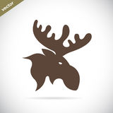 Vector images of moose deer head Royalty Free Stock Photography