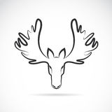 Vector images of moose deer head Stock Images