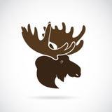 Vector images of moose deer head royalty free illustration