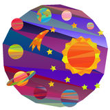 Vector images of planets Stock Photography
