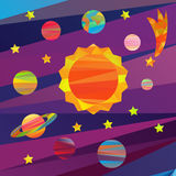 Vector images of planets Royalty Free Stock Photo