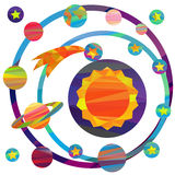 Vector images of planets Stock Images