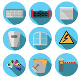 Vector images related to construction. Set of vector images related to construction royalty free illustration