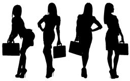 Vector images silhouettes of sexy girls Stock Photo
