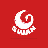 Vector images of swan design Stock Images