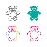 Vector images of teddy bear on a white background. Stock Photos