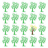 Vector images of trees. Stock Image