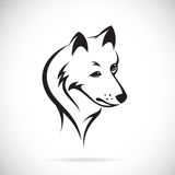 Vector images of wolf head. On a white background Stock Image