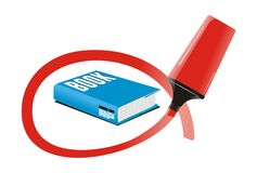Vector important marked book. White isolated Vector of important marked book Royalty Free Stock Image
