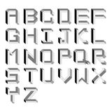 Vector impossible Alphabet. Type Illustration Stock Photo