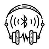 Vector inalámbrico del icono de los auriculares stock de ilustración