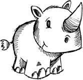 Vector incompleto del rinoceronte del safari Imagenes de archivo