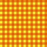 Vector inconsútil amarillo y anaranjado del mantel Vector tradicional inconsútil del modelo del mantel Modelo cuadrado simple geo Imagenes de archivo