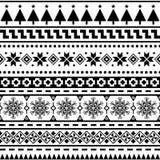 Vector inconsútil azteca del modelo Case el diseño del fondo de la forma y de la geometría de la Navidad tribal Azteca, inca, Egi ilustración del vector