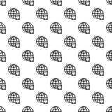 Vector inconsútil de la mano del modelo global del tecleo ilustración del vector