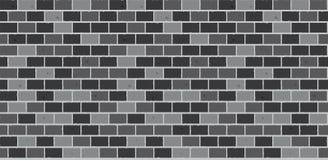 Vector inconsútil de la pared de ladrillo gris Imagen de archivo