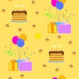 Vector inconsútil del feliz cumpleaños ilustración del vector