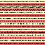 Vector inconsútil del fondo de la textura del modelo de la raya de la frontera del grunge del arte tribal étnico abstracto del bo Imagen de archivo