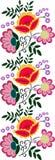 Vector inconsútil del modelo de la flor Foto de archivo