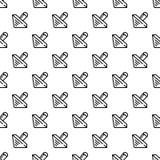 Vector inconsútil del modelo de madera del dreidel stock de ilustración