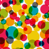 Vector inconsútil Illust del fondo del modelo del círculo brillante abstracto Imagen de archivo