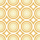 Vector inconsútil - modelo anaranjado del círculo ilustración del vector