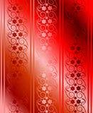 Vector inconsútil rojo del brocado Foto de archivo libre de regalías