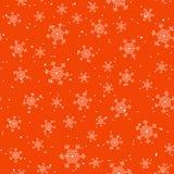 Vector inconsútil rojo del copo de nieve y de la nieve Imagen de archivo