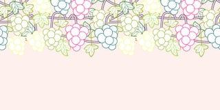 Vector incons?til dulce del fondo del modelo de las vides de uva stock de ilustración