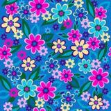 Vector inconsútil del modelo de la repetición de las flores Imagen de archivo