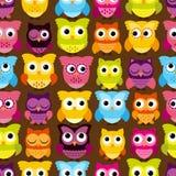 Vector inconsútil y de Tileable Owl Background Pattern Fotos de archivo libres de regalías