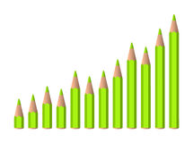 Vector increasing chart Stock Images