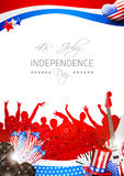 Vector Independence Day Background with Theme of M Stock Image