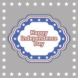 Vector independence day badge. poster Royalty Free Stock Images