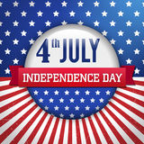 Vector independence day badge / poster Royalty Free Stock Image