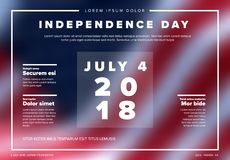 Vector independence day banner / poster Royalty Free Stock Photo