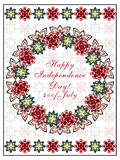 Vector independence day card Royalty Free Stock Images