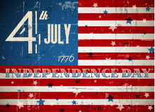 Vector independence day poster Stock Images