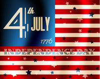 Vector independence day poster Stock Photo