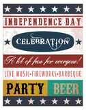 Vector independence day poster Royalty Free Stock Images
