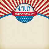 Vector independence day poster on old paper Royalty Free Stock Photos