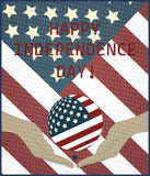 Vector independence day poster Royalty Free Stock Photos