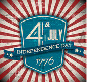 Vector independence day shield / poster Royalty Free Stock Images