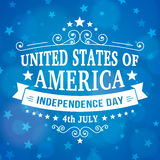 Vector independence day 4th July american bakground Royalty Free Stock Photo