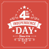 Vector independence day 4th July sign background. Card Stock Image