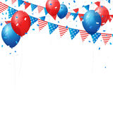 Vector independence 4 July element flags and confetti Stock Photo