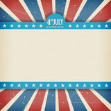 Vector independence 4th July american day poster. Vintage independence 4th July american day poster. Vector illustration. Layered Royalty Free Stock Photos