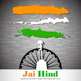 Vector India Background. Easy to edit vector illustration of India Background with grungy flag stock illustration