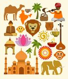 Vector india icon set Stock Images