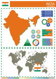 Vector India illustration country nation national culture concep Stock Image